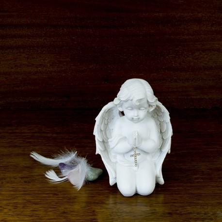 Figurine statuette Ange prieur avec une croix