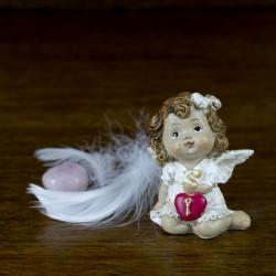 deco noel baroque Figurine Ange fillette avec un coeur