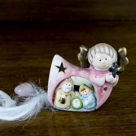 Crèche Ange de la Nativité
