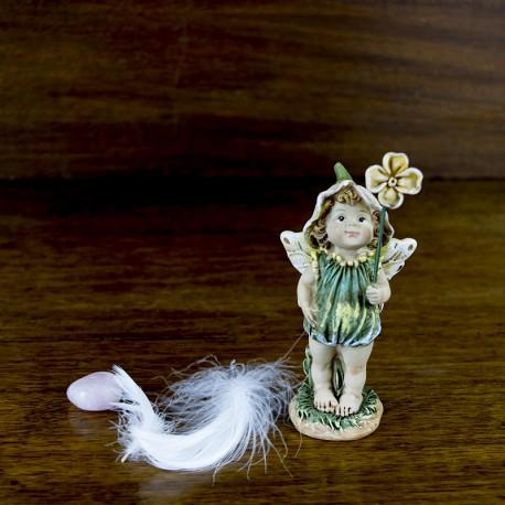 déco thème féerie Figurine Elfe avec une fleur