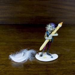 Figurine Pixie sur une palette