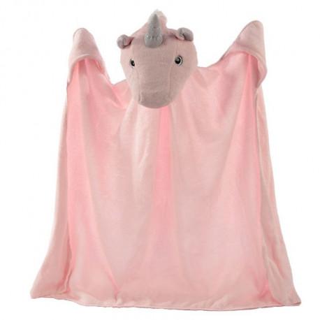 Couverture cape tête de licorne