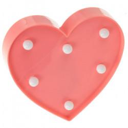 Décoration lumineuse coeur à led - veilleuse pour chambre d'enfant