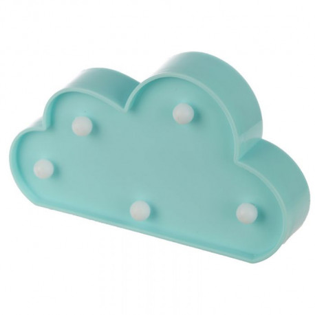Décoration lumineuse kawaii nuage bleu à led
