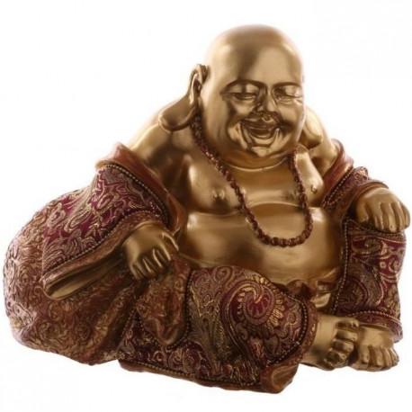 Grande Figurine zen de Bouddha rieur