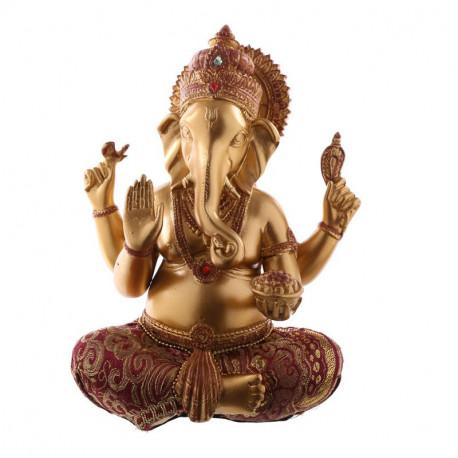 Figurine statuette Dieu hindou Ganesh porteur de chance