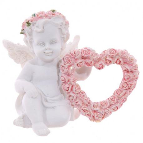 décoration Statuette Ange avec un coeur