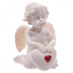 déco mariage thème Ange avec un coeur rouge