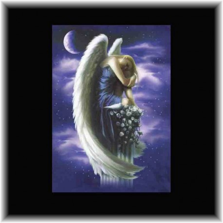 Carte de correspondance Ange sur Piedestal