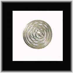 Spirale argentée pour pierres
