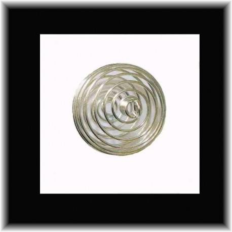 Spirale argentée pour pierres en pendentif