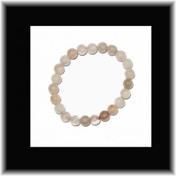 Bracelet en quartz rose (8 mm)