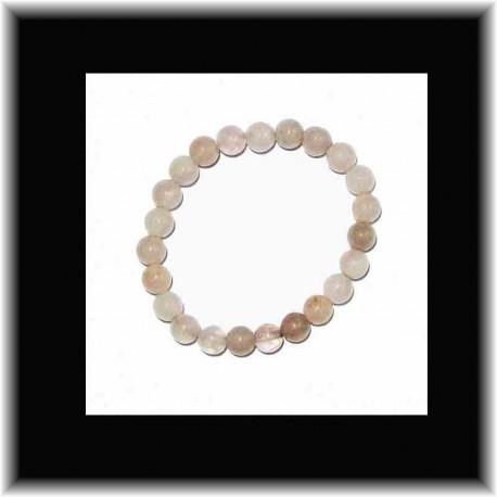 Bracelet en quartz rose (8 mm) pouvoir des pierres