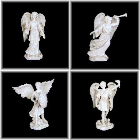 Collection de 4 grandes figurines d'Archanges protecteurs