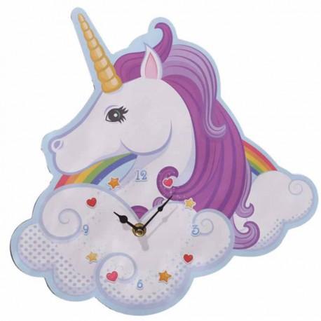 Horloge murale tête de Licorne