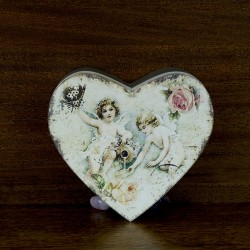 boite figurine ange en forme de coeur pour bijoux
