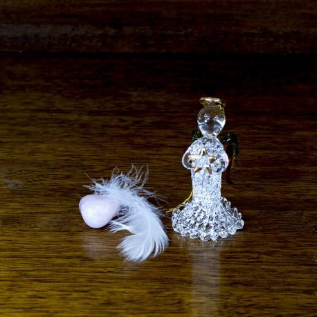 statuette Figurine Ange en verre avec une étoile