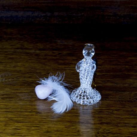Figurine statuette Ange prieur en verre