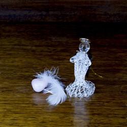 Figurine Ange en verre et livre